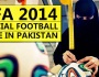 Women in Headscarves Behind Brazuca – The Official Football made in Pakistan