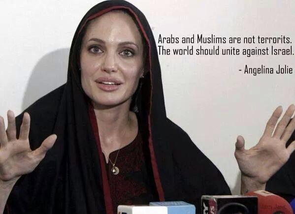 Image result for angelina jolie, muslims