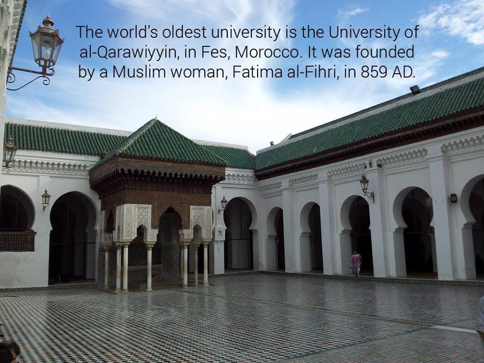 fatima al fihri Fatima al fihri went through life and is known for creating the first model of higher education which means if you are currently attending any sort of college, community or otherwise, you have fatima, and her sister, mariam to thank after being educated throughout their lives, they took a tragedy, and used it.