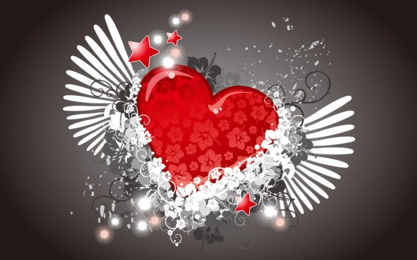 3D-Love-Heart-Vector-Wallpaper