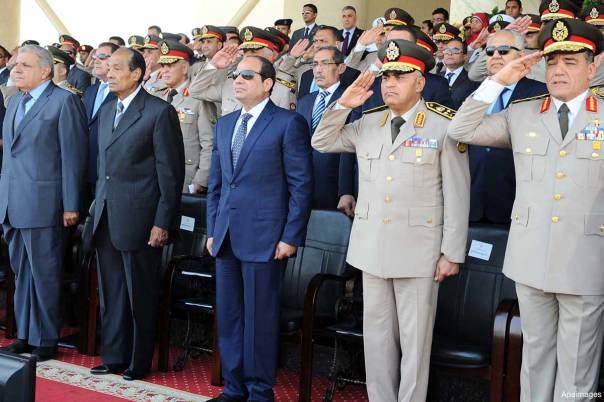 president-sisi-with-his-generals-at-a-military-parade
