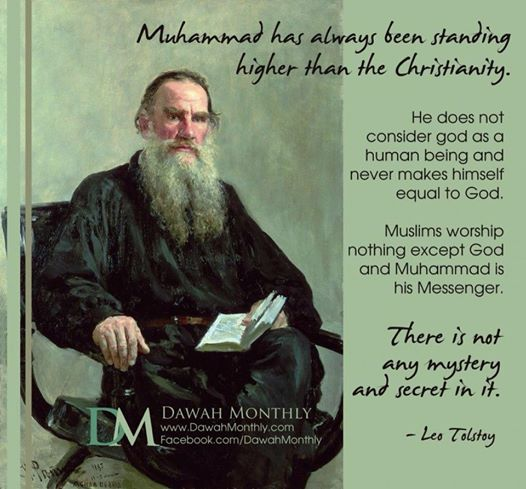 Quotes of Leo Tolstoy about Prophet Muhammad (Pbuh